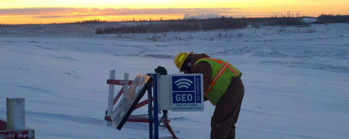 Automated monitoring of tailings dam, Canada